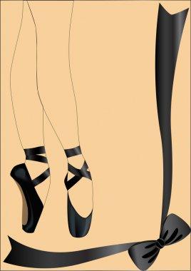 Ballet legs on brown