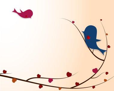 Love paper birds stock vector