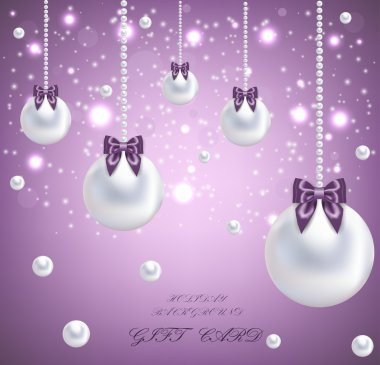Gift card with pearls stock vector