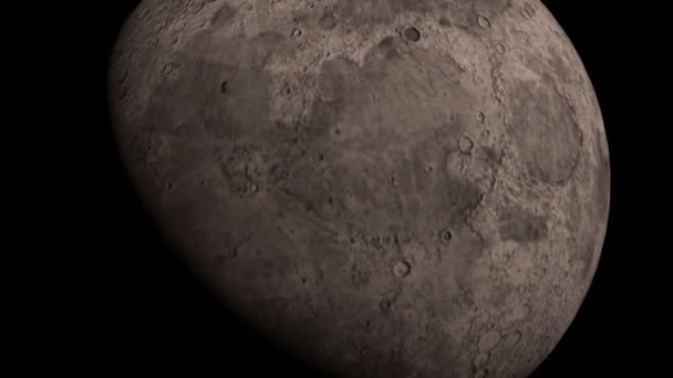 Rotating Moon in a dark universe, FullHD. Elements of this video furnished by NASA.