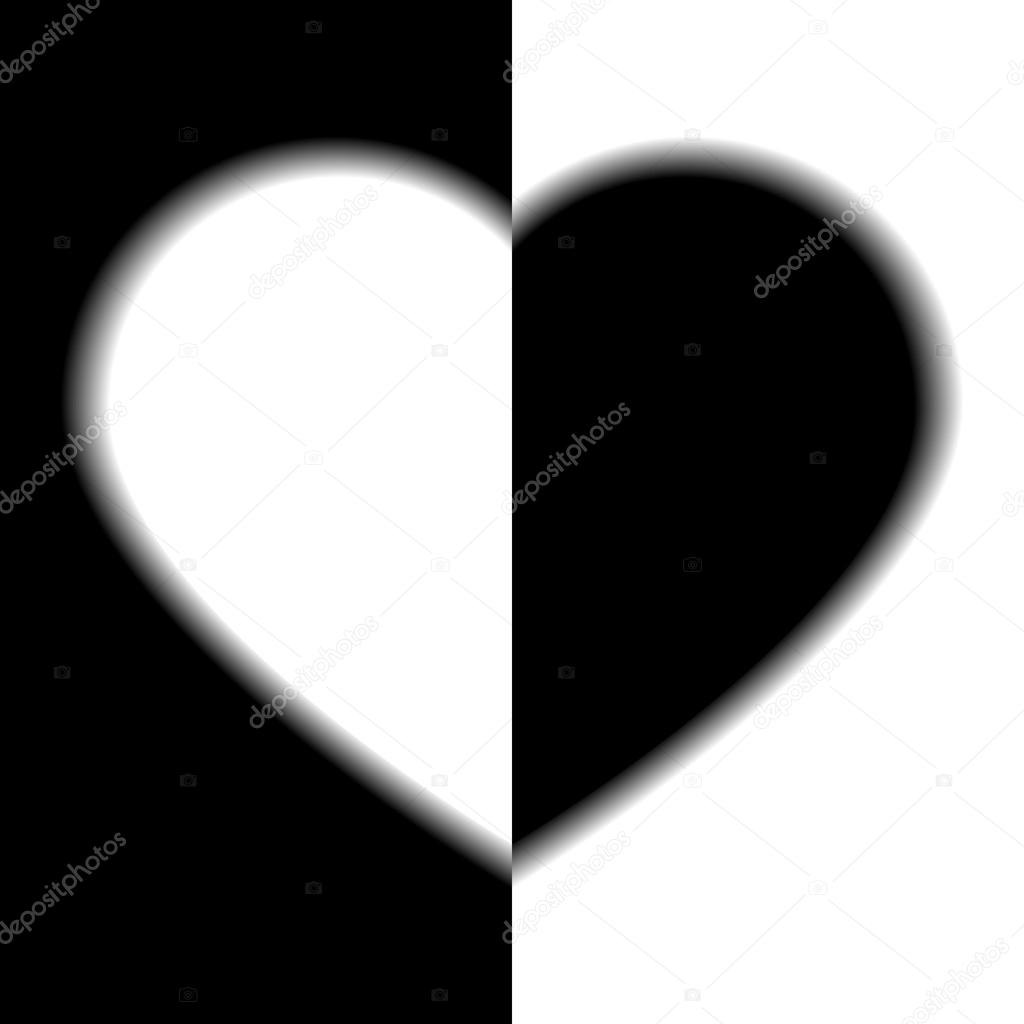 Imágenes Amor Blanco Y Negro Dos Lados Del Amor Blanco Y Negro