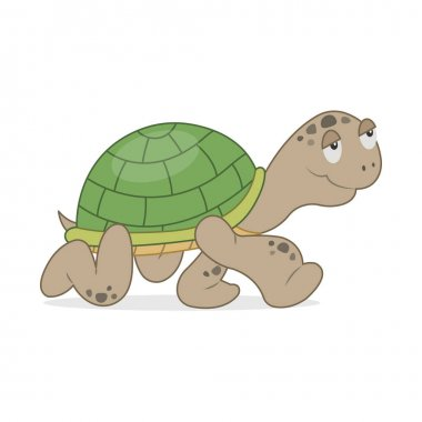 Vector illustration of cartoon turtle icon