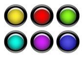 sada barevných webových tlačítek