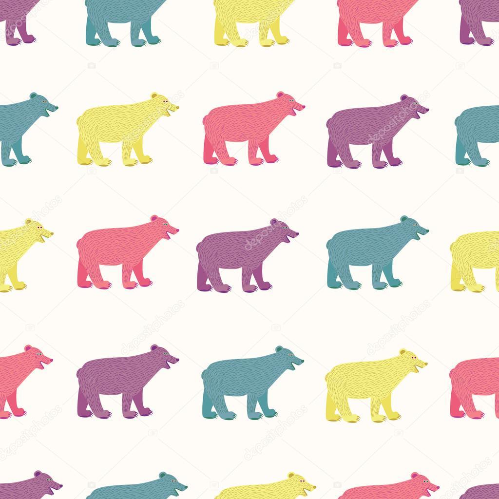 patrón sin costuras de osos — Vector de stock © NastyaSigne #97468276