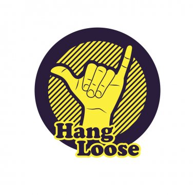 Hang loose hand sign.