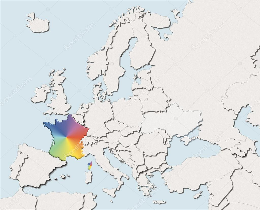 carte europe 975