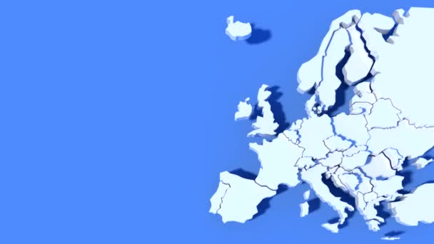 Animation Europe Map 3D