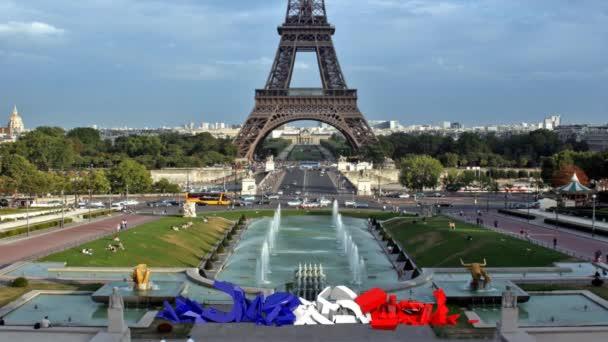 Text Paříž formulář před Eiffelovy věže