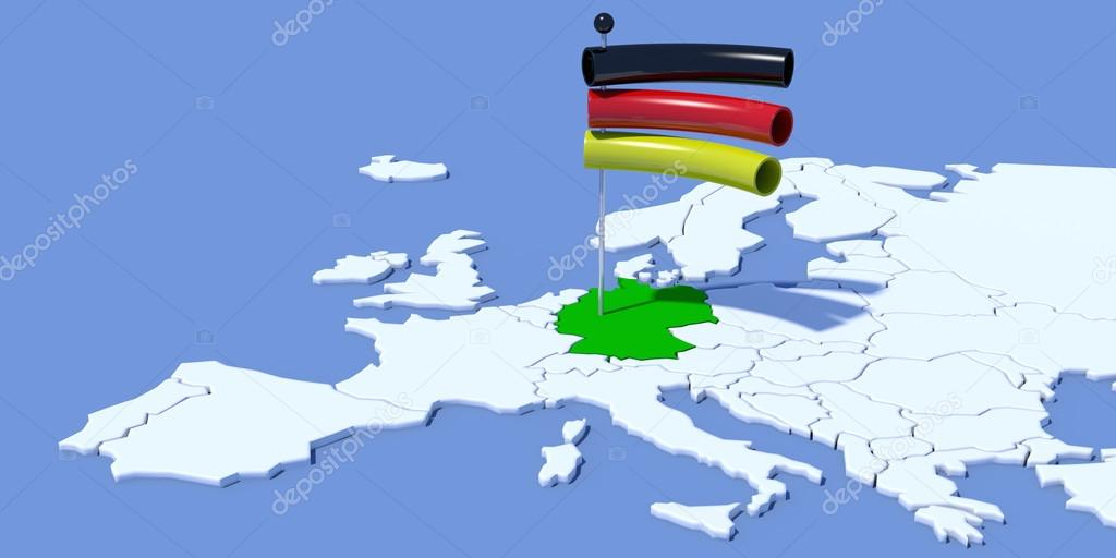 európa térkép németország Európa 3d Térkép, zászló, Németország — Stock Fotó © albasu #66872823 európa térkép németország