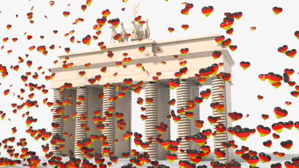 Brandenburg Gate with hearts colors Germany