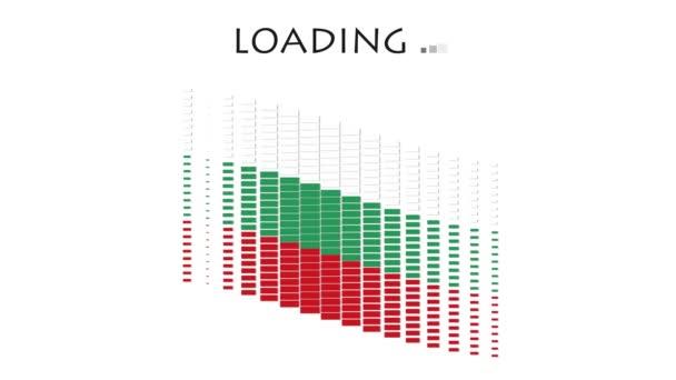 Animation  Bulgaria flag with moving loading