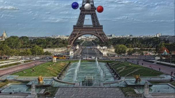 Balls color background Eiffel France