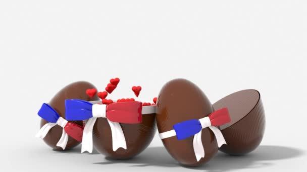 Broken egg Easter France with surprise heart