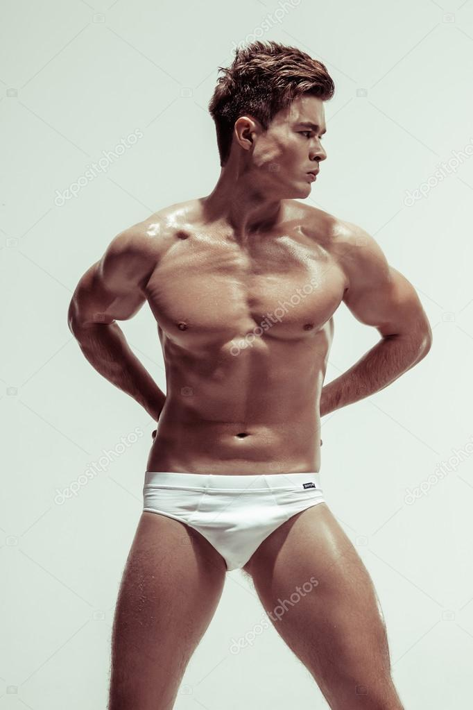 Athletic male model nude