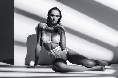 Beautiful girl posing in lingerie