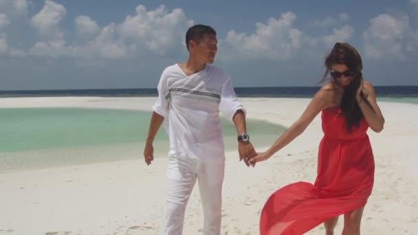 Honeymooners Holding Hands