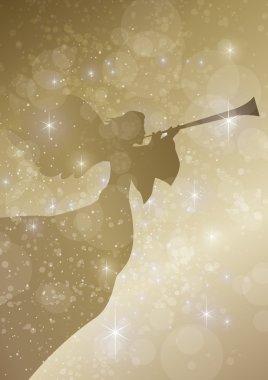 Herald angel with stars