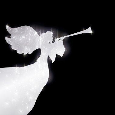 Starry herald angel silver