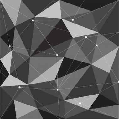 polygon abstract black background design