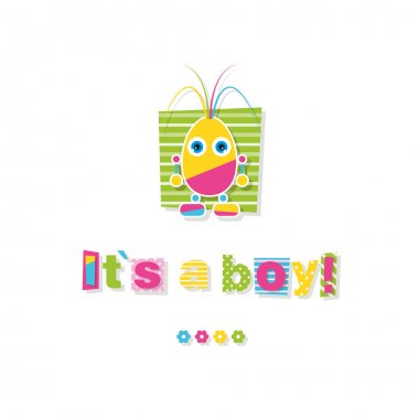 Baby boy shower greeting card
