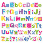 Fotografie Colorful letters collection