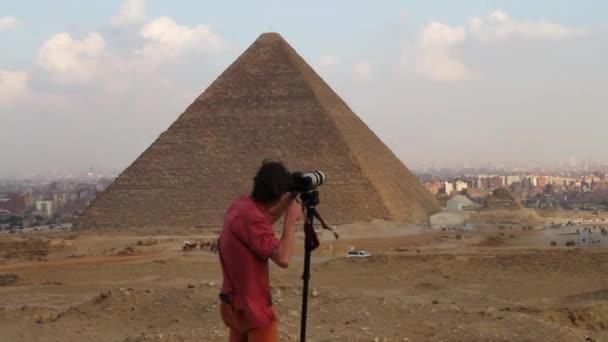 Photographernear the Pyramid of Giza