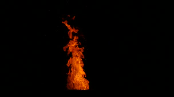 Isolated fire animation
