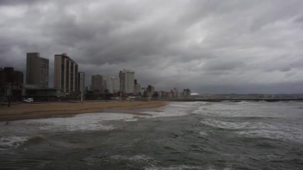beach and Durban skyline