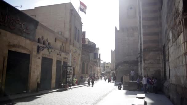 V malé ulici v Koptské Káhiry