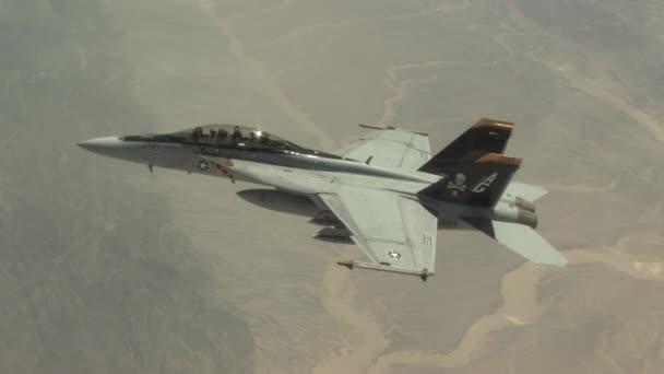 U.S. fighter jet in flight