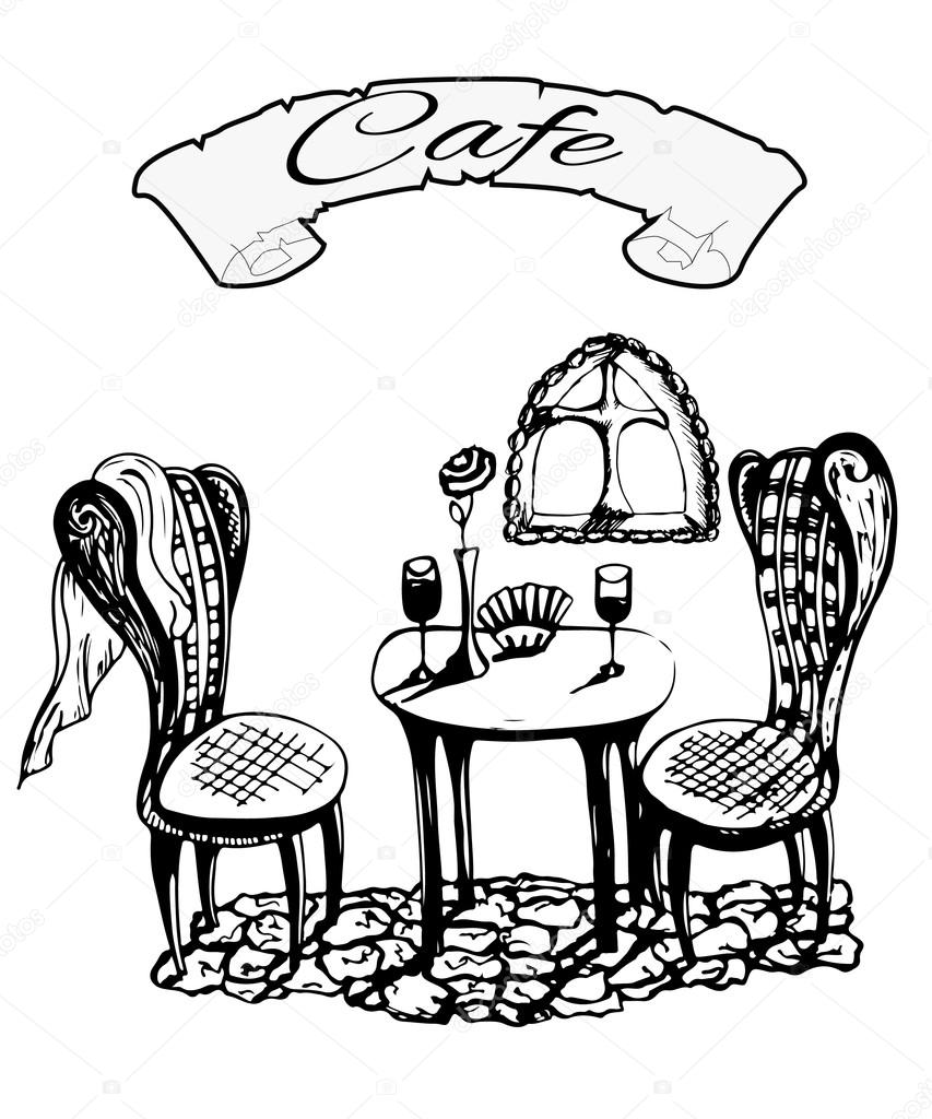 Photos Paris Cafe Black And White Cafe In Italy Paris Black And White French Cafe Restaurant Stock Vector C Mariblackhair 85615870