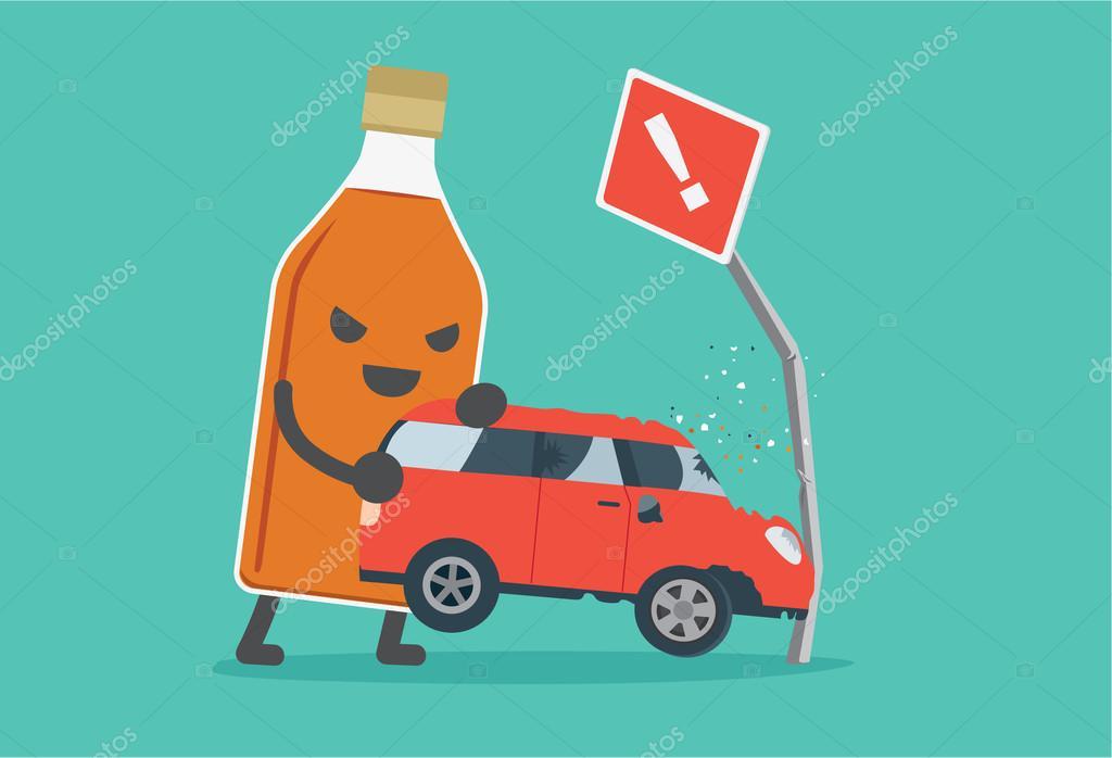 Betrunken und fahren machen Autounfall — Stockvektor © solar22 ...