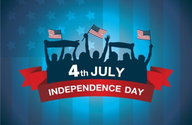 Logo celebrate 4 July independence day