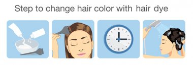 Step to change hair color with hair dye