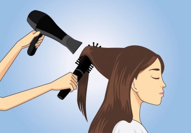 Customer to get a salon blow dry