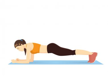 Perfect body with the plank exercise.