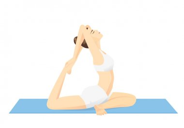 Woman doing exercise with Yoga