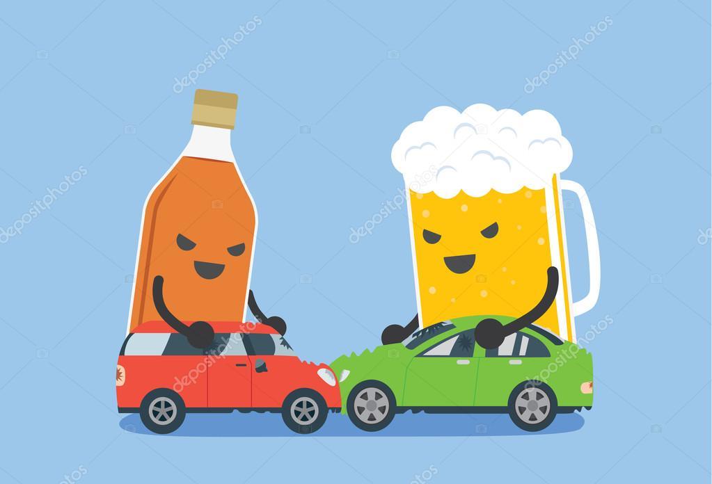 Alkohol machen Autounfall — Stockvektor © solar22 #89756098