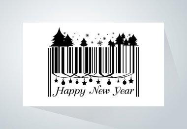 Happy new year barcode