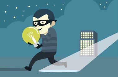 Bandit in mask robbery idea