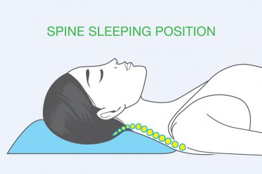 Spine sleeping position