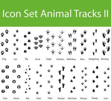 Icon Set Animal Tracks II