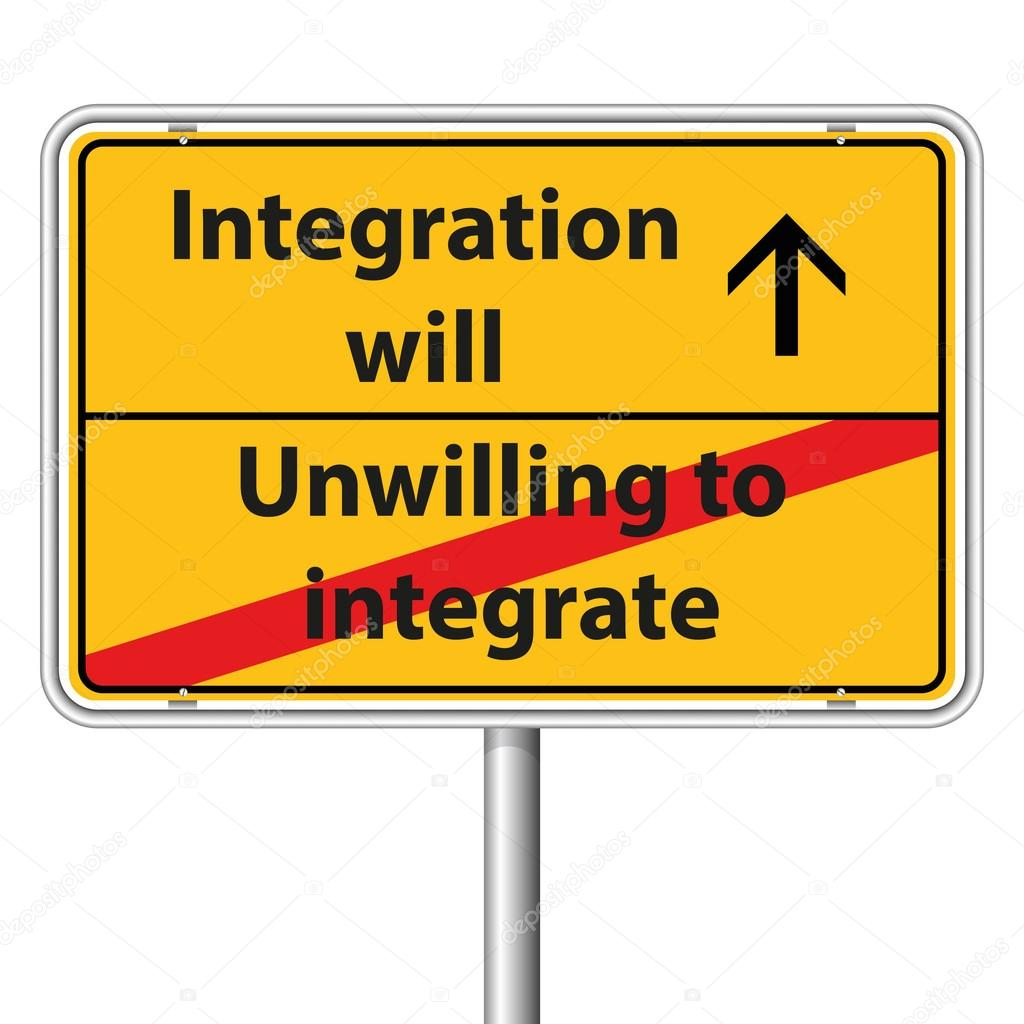 Illustration Vector Graphic Road Sign Integration