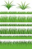 Ilustrace vektorové grafické nastavení tráva
