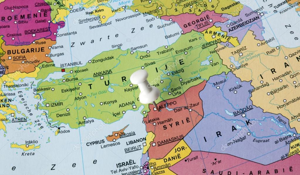 Imágenes Siria Mapa Mapa De Siria Foto De Stock Joeppoulssen