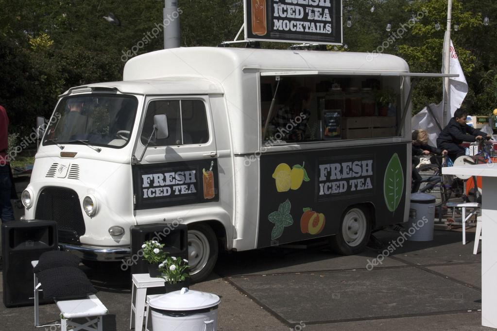 Amsterdam Netherlands May 14 2016 Food Truck Selling Ice Tea In Photo By Joeppoulssen