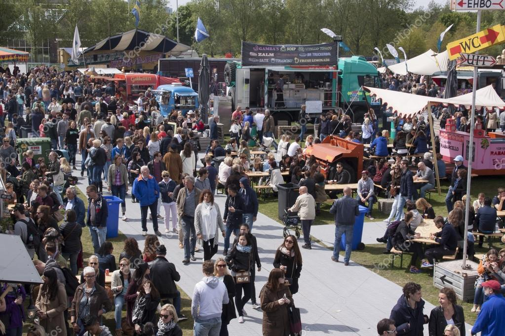 Amsterdamnetherlands May 17 2015 People At The Food Truck Or Rolling Kitchen Festival In Amsterdam Photo By Joeppoulssen