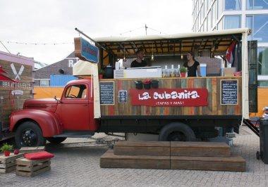 Food truck selling tapas in Amsterdam