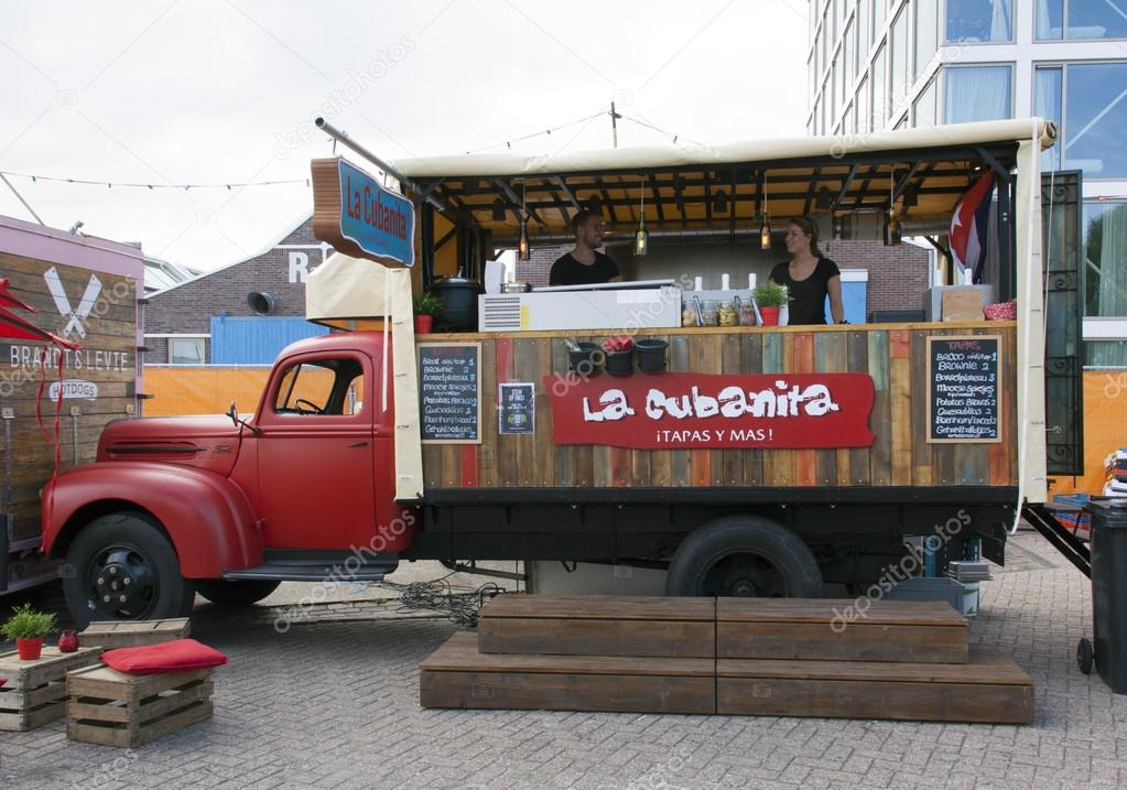AmsterdamNetherlands July 31 2015 Food Truck Selling Tapas In Amsterdam Photo By Joeppoulssen