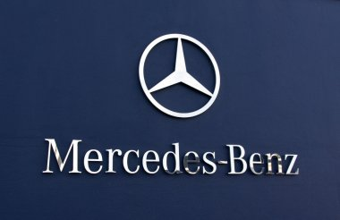 Mercedes benz sign and words